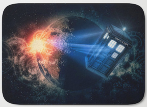 Tardis And A Planet Bath Mat
