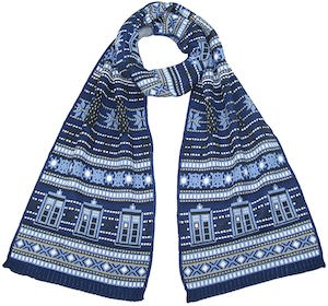 Tardis And Dalek Winter Scarf