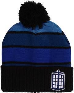 Doctor Who Blue Rows Tardis Beanie