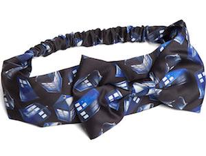 Tardis Headband With Bow