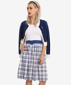 Tardis Plaid Skirt