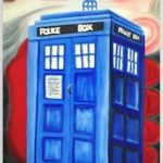 Painted Tardis Notebook