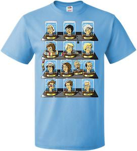 The Heads Of 13 Doctor's T-Shirt