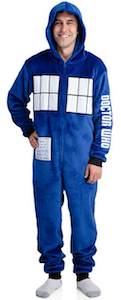 Tardis Fleece Onesie Lounger