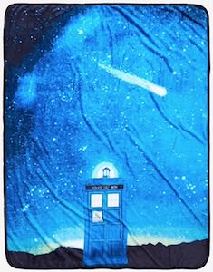 Tardis At Night Fleece Blanket