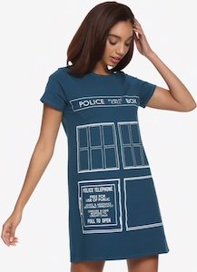 Tardis Door T-Shirt Dress