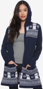 Dr. Who Tardis Cardigan With Hood