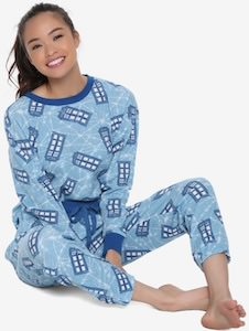 Women's Tardis Thermal Pajama Set