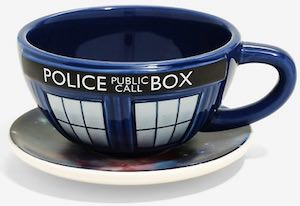 The Galaxy And The Tardis Cup & Saucer