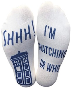 I am Watching Dr Who Socks