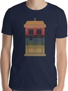 Striped Tardis T-Shirt