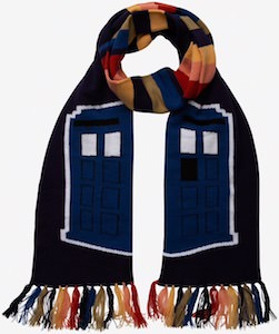 Scarf With The Tardis And The Stripes Of The 13th Doctor
