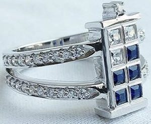 Dr Who Tardis Engagement Ring