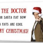 Doctor Who Santa Hats Are Cool Christmas Card