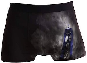 10th Doctor And The Tardis Boxer Briefs