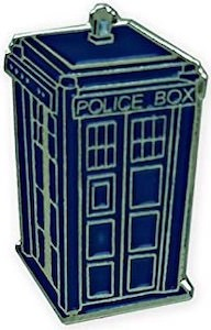 Blue Tardis Pin