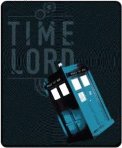 Time Lord And The Tardis Throw Blanket