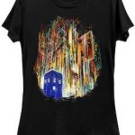 Doctor Who Tardis And Gallfrey T-Shirt