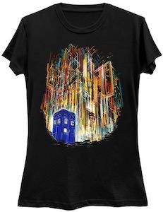 Tardis And Gallifrey T-Shirt