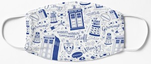 Everything Doctor Who Face Mask
