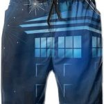 Stars And The Tardis Swim Trunks