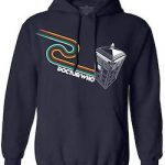 Doctor Who Tardis Navy Blue Hoodie With Rainbow Stripes