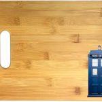 Doctor Who Tardis Bamboo Cutting Board