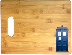 Tardis Bamboo Cutting Board