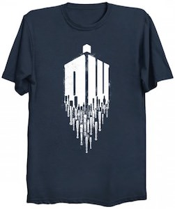 Sonic Screwdriver Dripping From The Logo T-Shirt