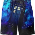 Doctor Who Blue Space And The Tardis Swim Shorts