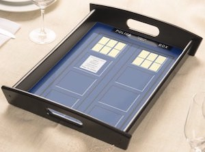 Serving Tray With The Tardis On It