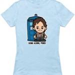 Cartoon like Doctor Who t-shirt