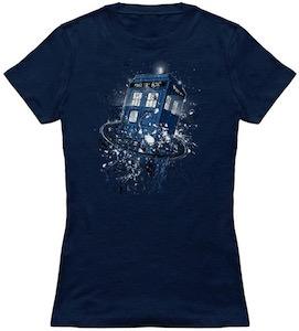 Tardis Breaking Time T-Shirt