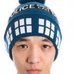 Doctor Who Tardis Pom Pom Beanie Hat