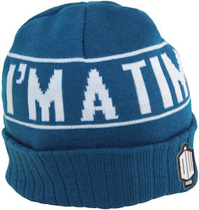 Blue I'm A Time Lord Beanie Hat