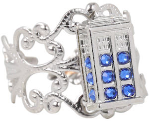 Doctor Who Filigree Style Tardis Ring