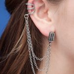 Doctor Who Tardis Earrings With Chains And Cuff