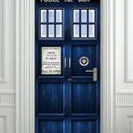 Tardis Door Sticker / Poster