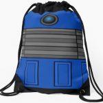 Doctor Who Blue Dalek Drawstring Backpack