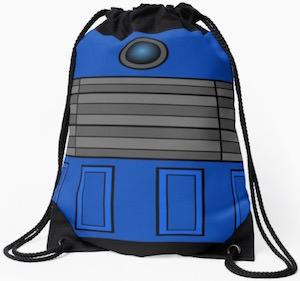 Blue Dalek Drawstring Backpack