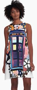 Doctor Who Tardis Art Dress With Gears