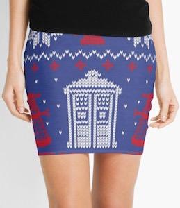 Doctor Who Fair Isle Christmas Skirt