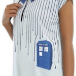White Tardis Top With Dripping lines
