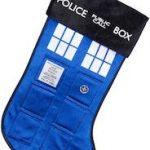 Tardis Blue Police Box Christmas Stocking