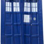 Doctor Who Tardis Doors Shower Curtain