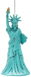 Statue Of Liberty Weeping Angel Christmas Ornament