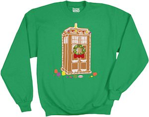 Gingerbread Tardis Christmas Sweater Go Doctor Who