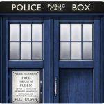 Doctor Who Tardis Doors Mousepad