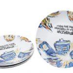 Doctor Who Exploding Tardis Ceramic Plate Set