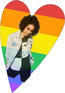 Bill Potts Gay Pride Heart Sticker